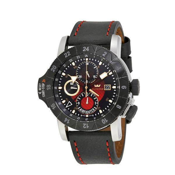 3921-16-LB96B - Glycine Airman Air Fighter GMT Nero 46mm