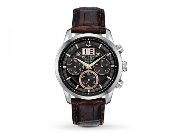 96B311 - Bulova BIG DATE Sutton Chrono 44mm Nero