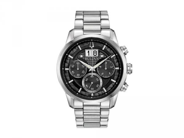 96B319 - Bulova BIG DATE Sutton Chrono 44mm Nero