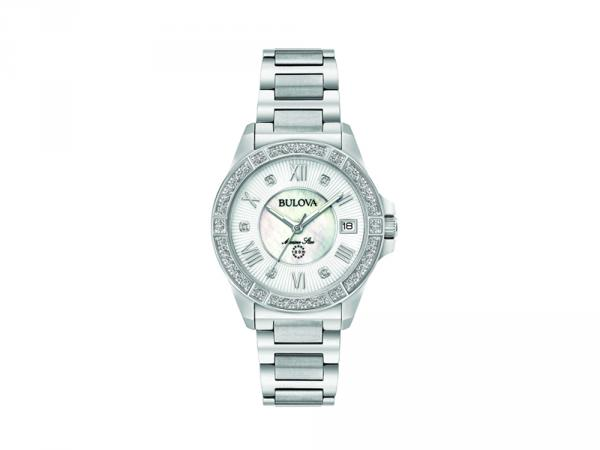 96R232 - Bulova Donna Diamonds Argento 32mm