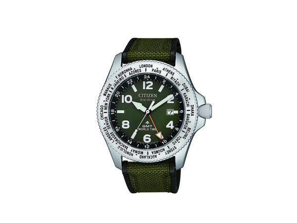 BJ7100-23X - Citizen Promaster GMT Verde 41mm