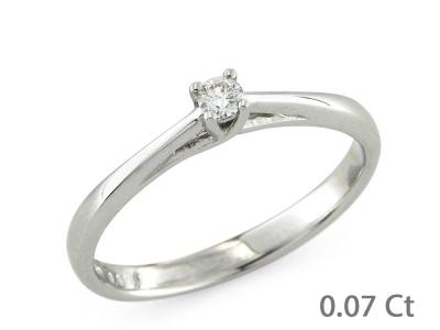 CF00156 - Anello Solitario oro Bianco  Diamante  0.07 Ct