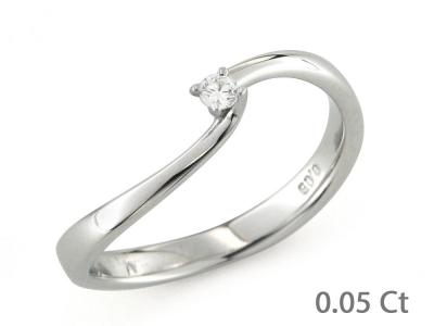 CF00158 - Anello con Diamante Solitario 0.05 Ct