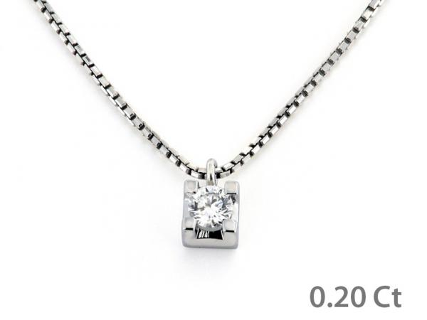 CF00426 - Puntoluce in Oro con Diamante 0.20 Ct