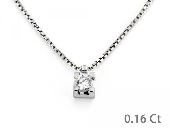 CF00572 - Puntoluce in Oro con Diamante 0.16 Ct