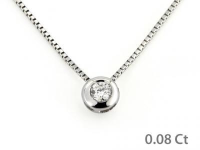 Collana Oro con Diamante ct. 0.08