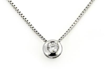 Collana Oro con Diamante 0.10 Ct