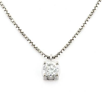 Girocollo Puntoluce con Diamante ct 0.35