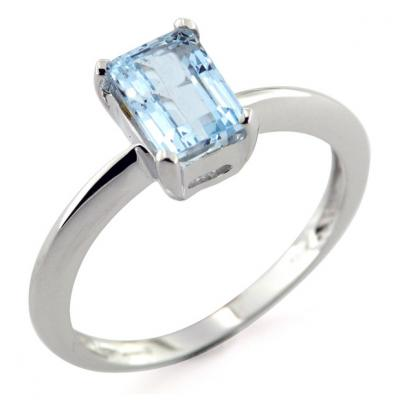 Anello con Acquamarina 1.30-1.50 Ct