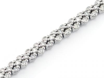 Bracciale Tennis con Diamanti 3.36 ct