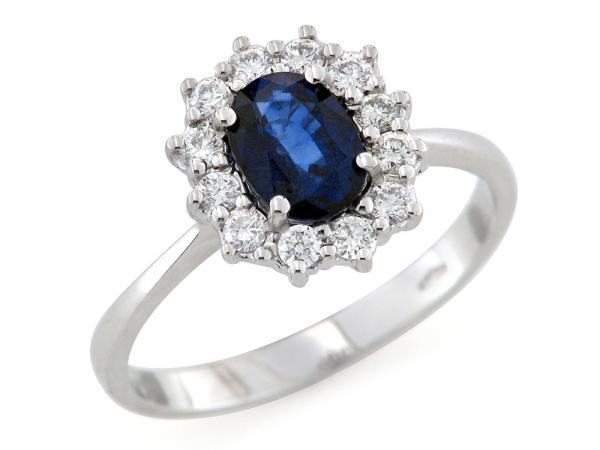 Favorito ANELLI con ZAFFIRO Prezzi Offerta Zaffiri e Diamanti RM96