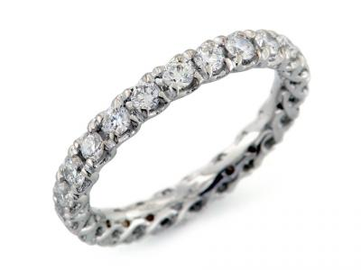 Anello Eternity con Diamanti da 1.10 ct