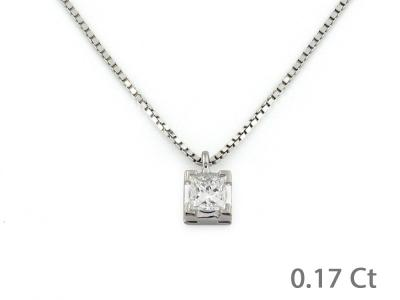 Puntoluce in Oro con Diamante 0.17 Ct