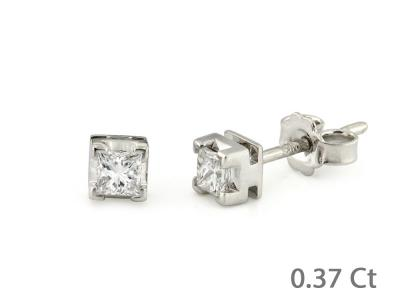 Orecchini Diamanti Princess 0.37 Ct