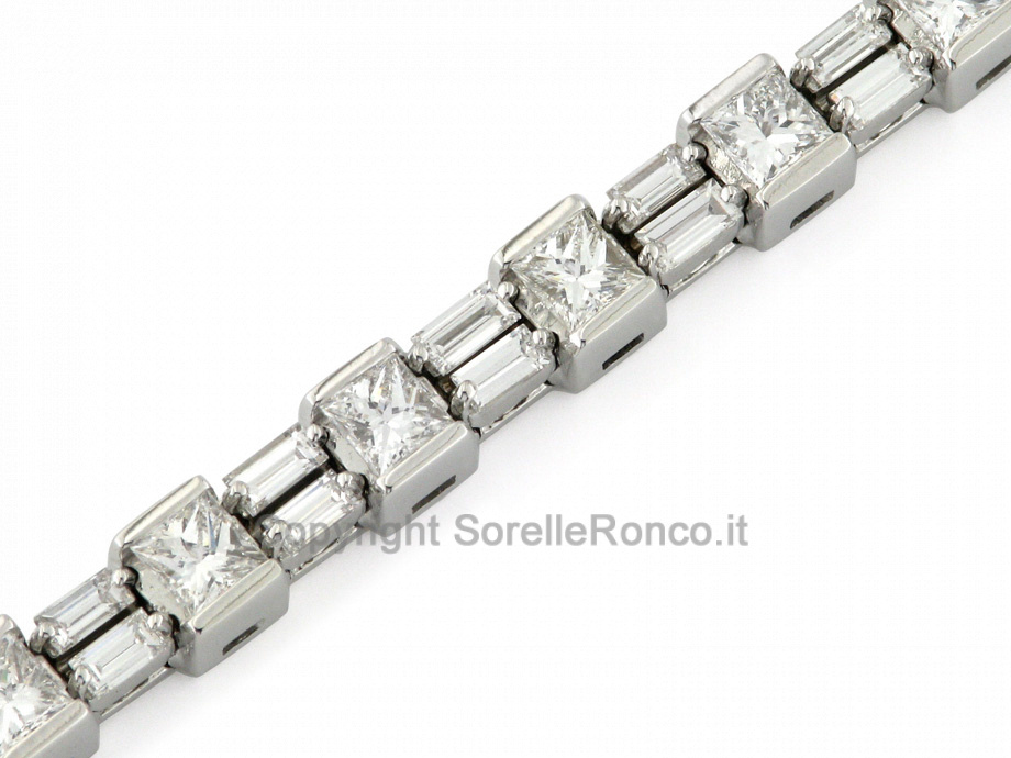 CF01346 - Bracciale Tennis con Diamanti da 4.60 Ct