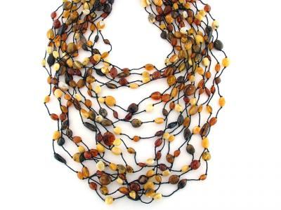 Collana con Ambra Naturale Multicolore