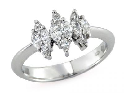 Trilogy Platino con Diamanti 0.51 Ct