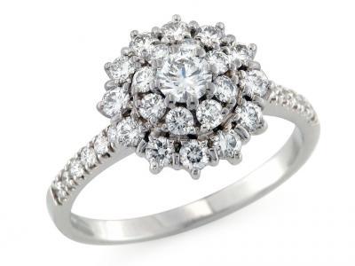 Anello in Oro con Diamanti 1.08 Ct