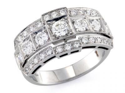 Anello Art Deco Diamanti 1.31 Ct