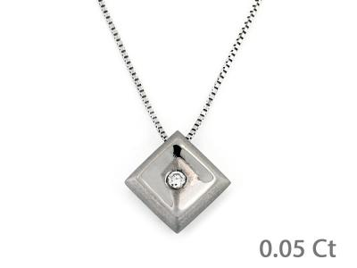 Collana Puntoluce con Diamante 0.05 Ct