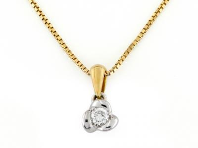 Collana Rosetta Diamante 0.13 Ct