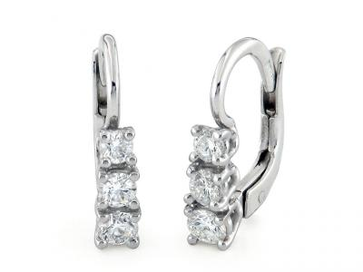 Orecchini Oro e Diamanti Trilogy 0.46 Ct