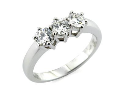 Anello Trilogy Diamanti da 1.23 Ct