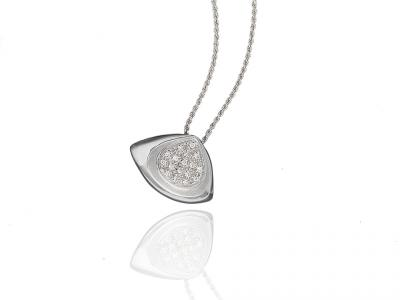 Collana con Pendente Diamanti 0.13 Ct