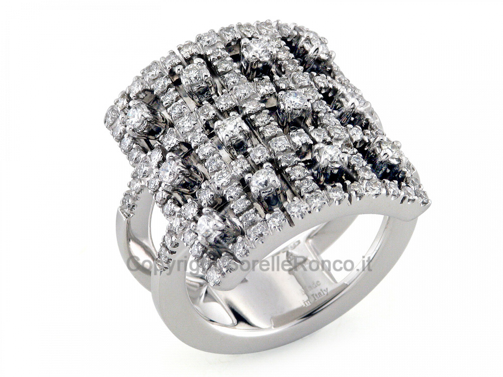 CF01986 - Anello Elegante Oro con Diamanti 1.00 Ct