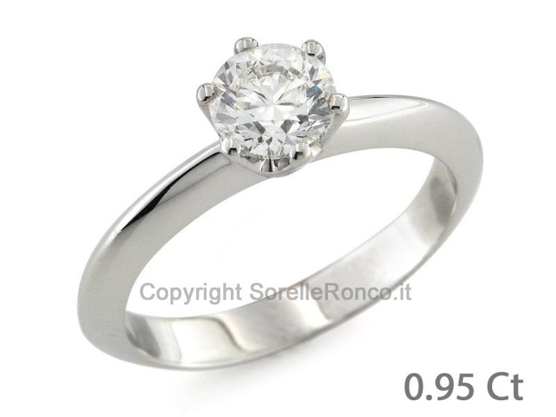 piuttosto carino il più economico ultimo Vendita Anello Solitario con Diamante da un Carato CF02079
