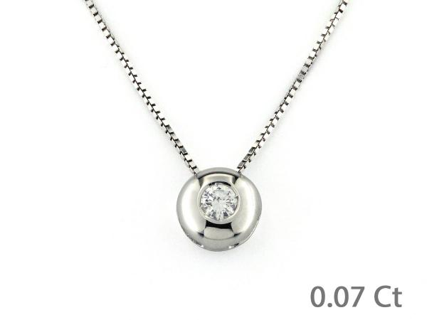 CF02184 - Collana Pendente Puntoluce Diamante 0.07 Ct