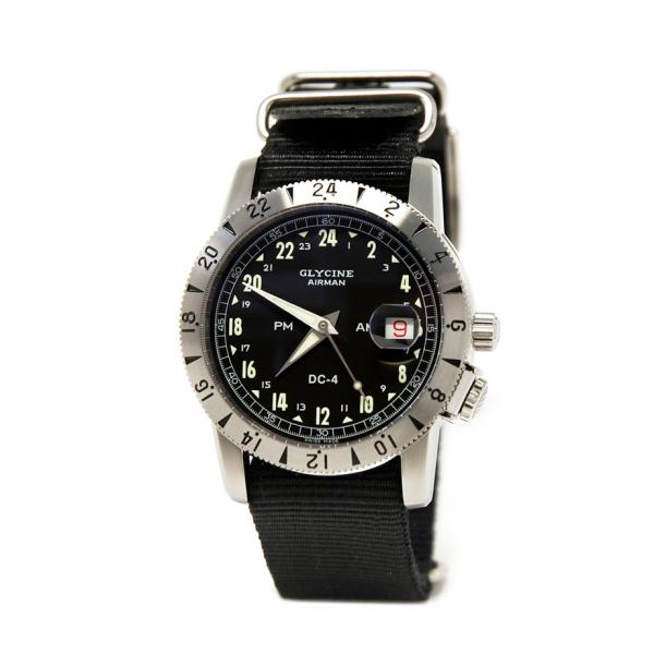 GL0072 - Glycine Airman Vintage Pourist Nero 42mm