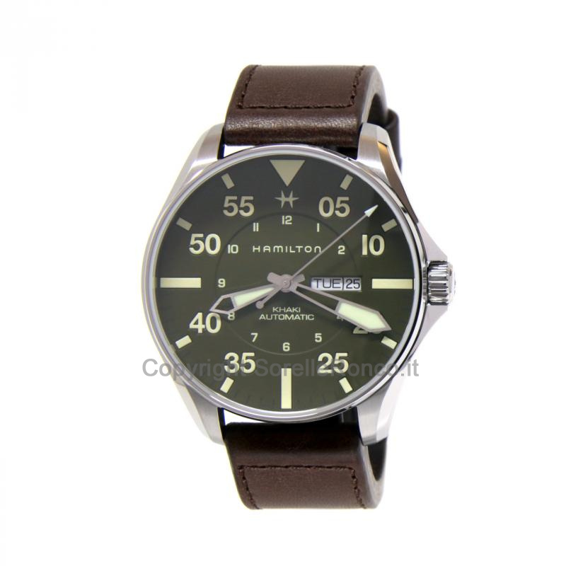 Khaki Aviation Pilot Schott NYC Verde Militare 46mm