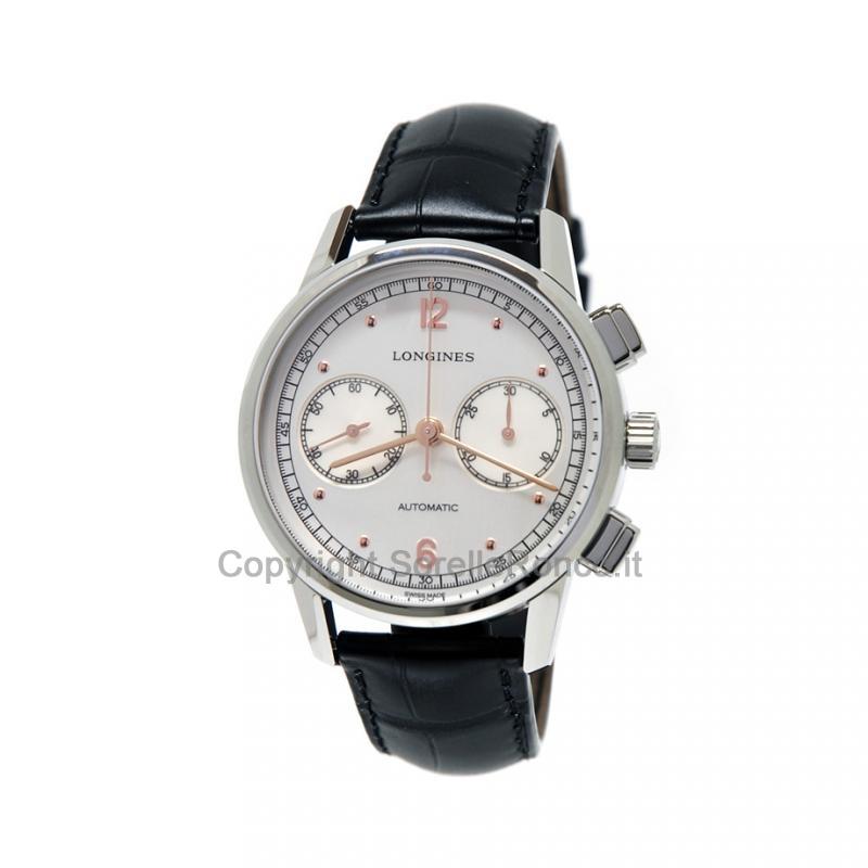 Heritage Classic Cronografo Automatico in Stile Anni '40 41mm Argento