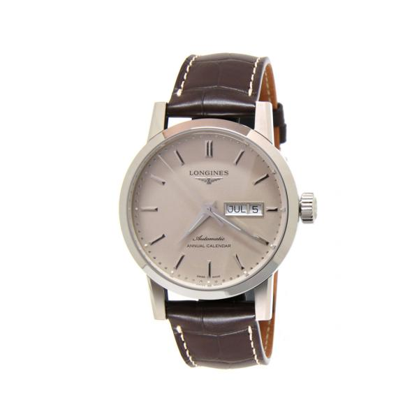 L48274922 - Longines 1832 Beige 40mm Alligatore Marrone