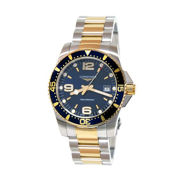 L37403967 - Longines Hydroconquest Quarzo Blu 41mm Bicolor