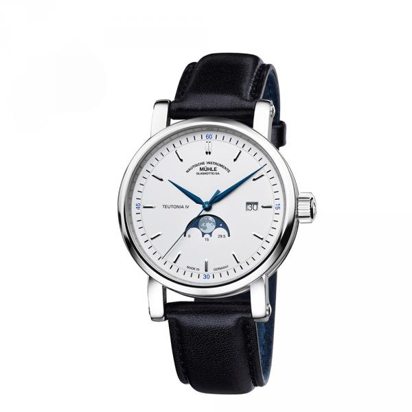 M1-44-05-LB - Muhle Glashutte Teutonia IV Bianco 41mm Moonphase