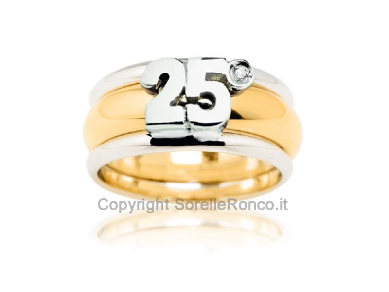 Copri fede vera anniversario gioielli prezzi vera ann 25 for Link 25 anni di matrimonio