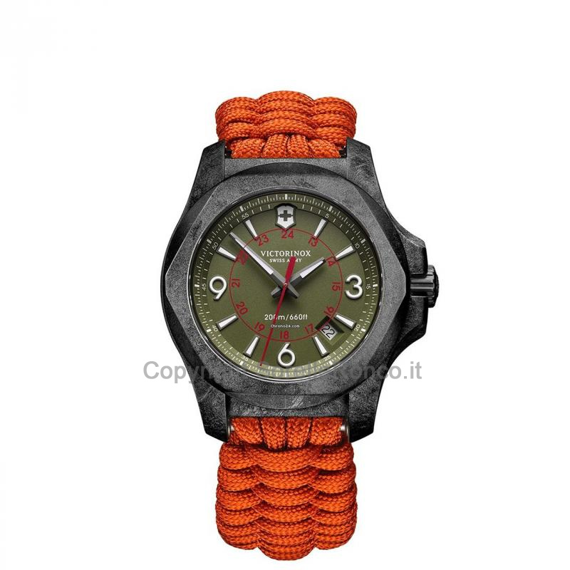 I.N.O.X. Carbon Edizione Limitata Verde 43mm Cinturino Arancione