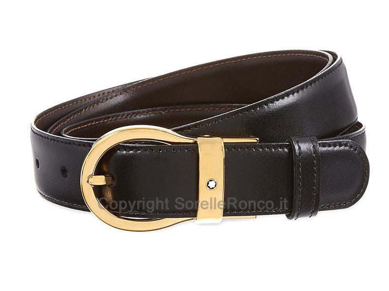 Montblanc Cintura Reversibile in Pelle