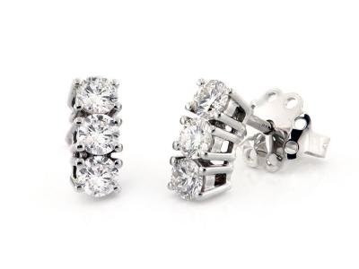 Orecchini Trilogy Oro e Diamanti 0.73 Ct