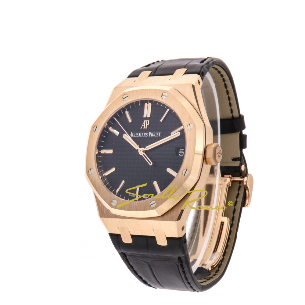Royal Oak Oro Rosa 18kt Nero 41mm
