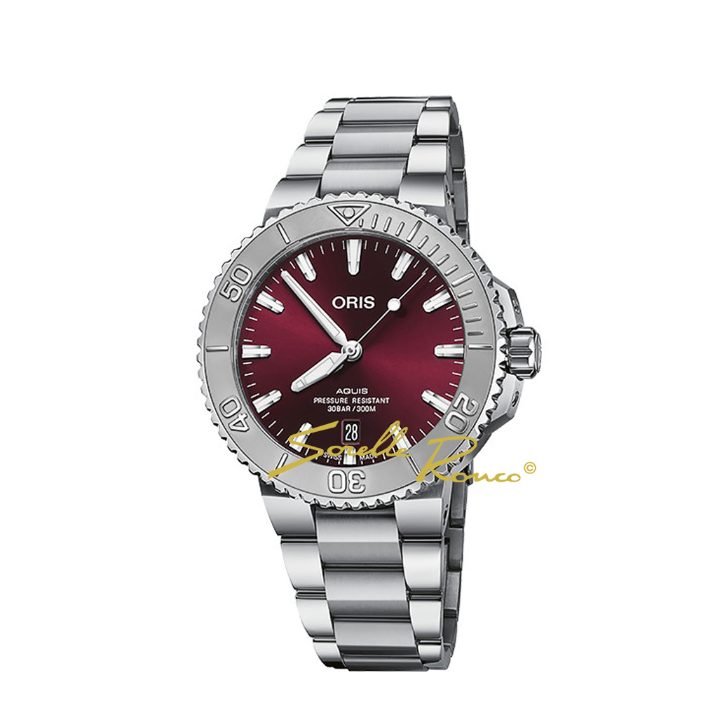 Aquis Date Relief 41.5mm Rosso