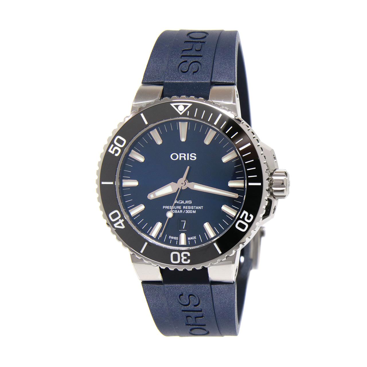 Aquis Date 43.5mm Deep Blue