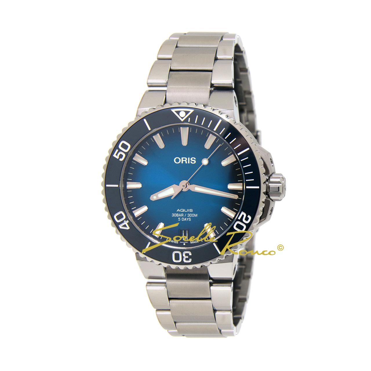 Aquis Date Calibre 400 Automatico Blu 41.5mm